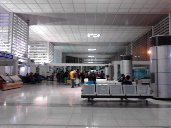 Inside Terminal II. Domestic pre-departure gate